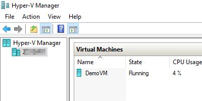 Hyper-V Manager desktop app