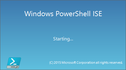 Windows PowerShell ISE splash start.