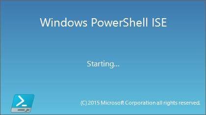 Windows PowerShell ISE splash start.