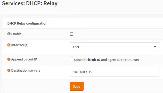 Enabling OPNSense DHCP Relay.