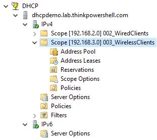 DHCP Scopes